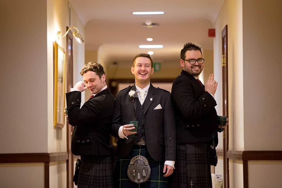 2 groom with ushers