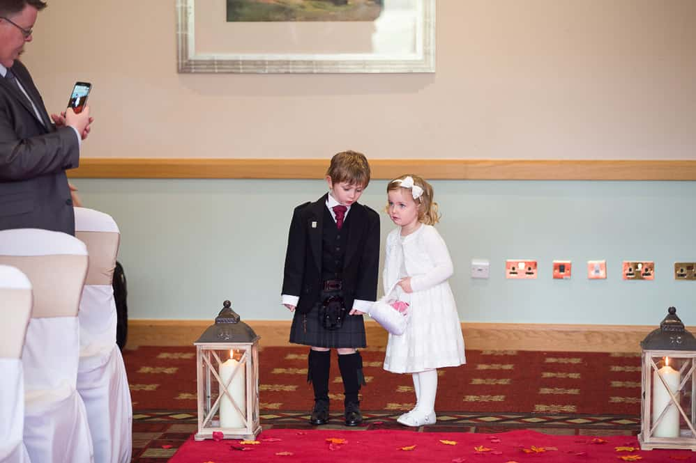 7 pageboy with flower girl