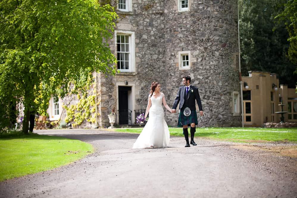 19 bride and groom walking