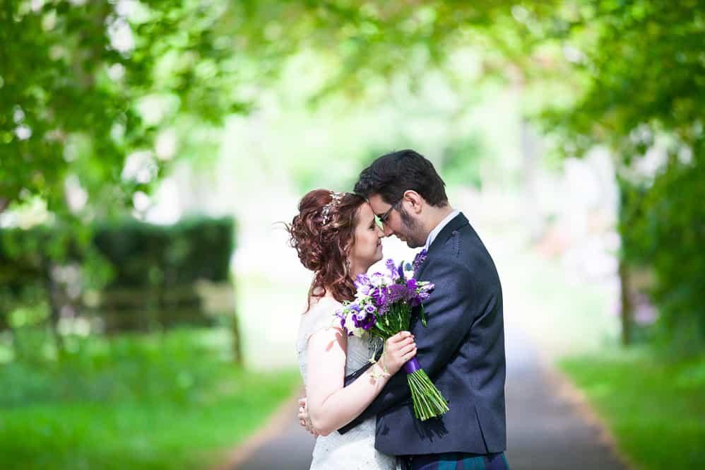 20 romantic closeup of bride and groom