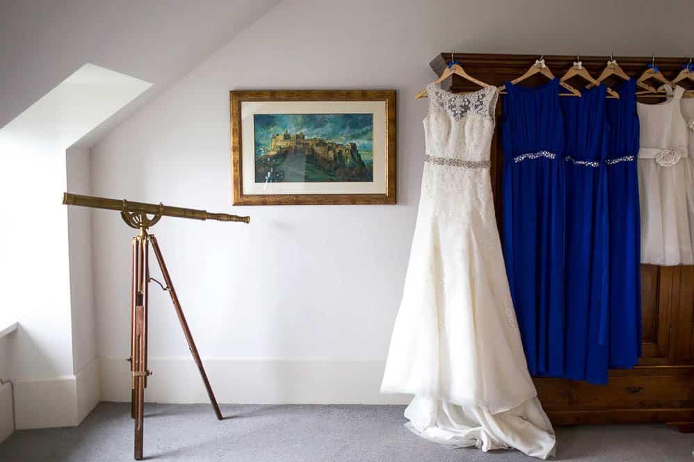 4 bride and bridesmaids dresses