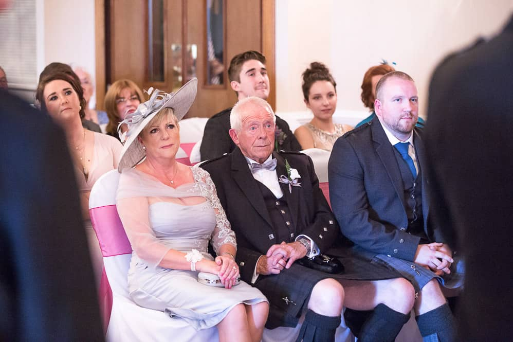 10 guests at wedding ceremony