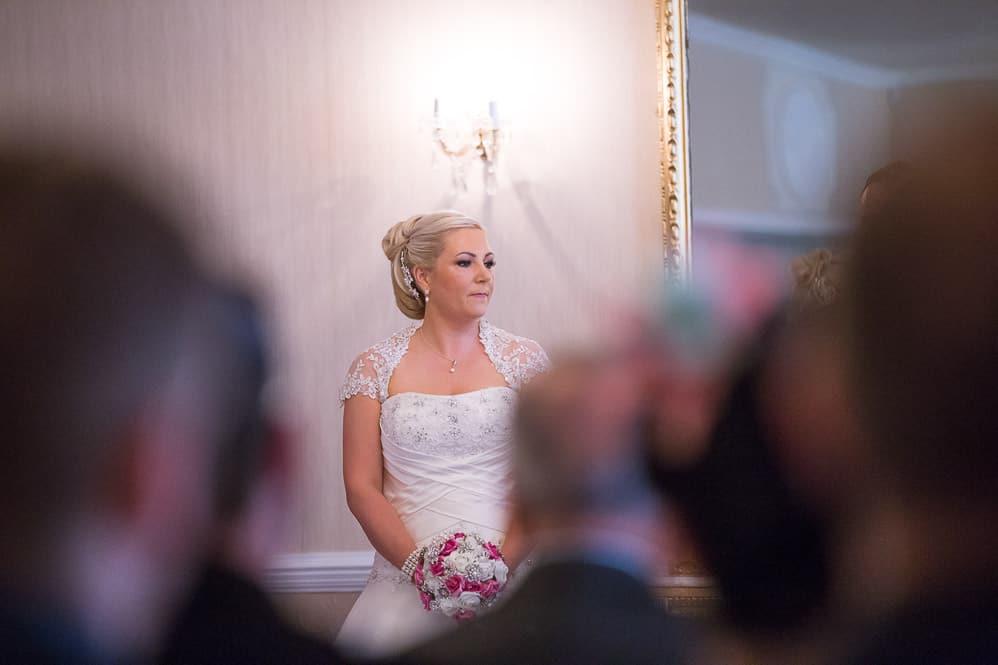 8 bride at wedding ceremony
