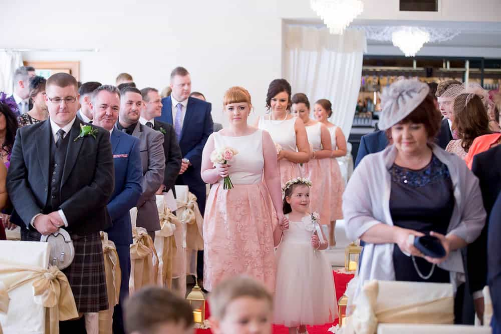 13 bridesmaids arriving