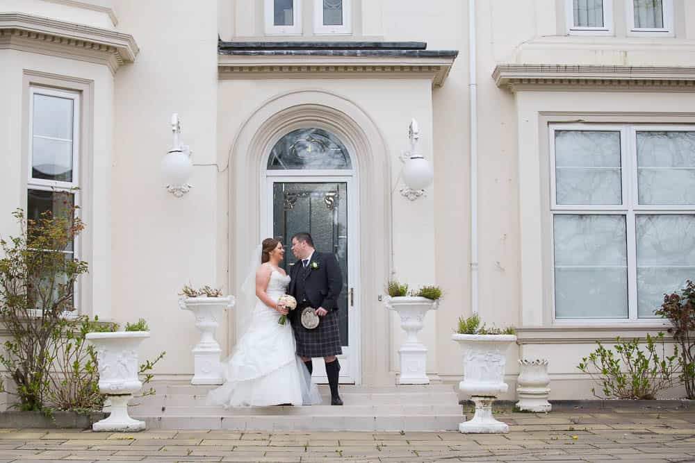 Avonbridge Hotel Hamilton Wedding - bride and groom