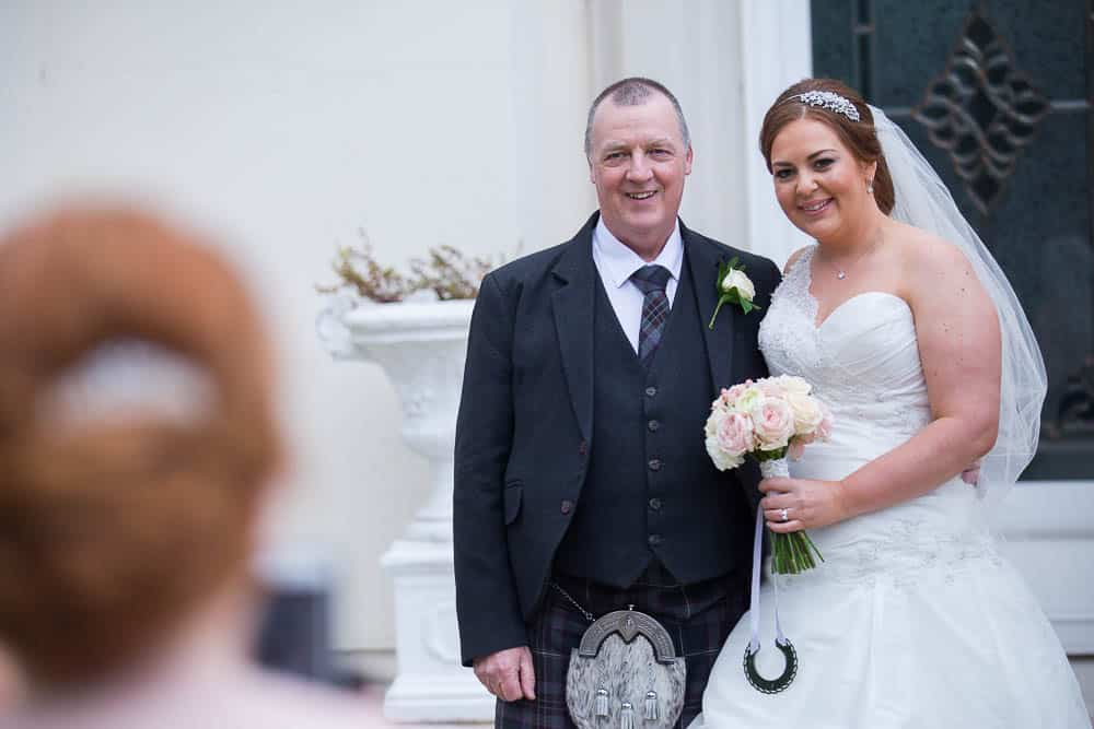30 bride with father