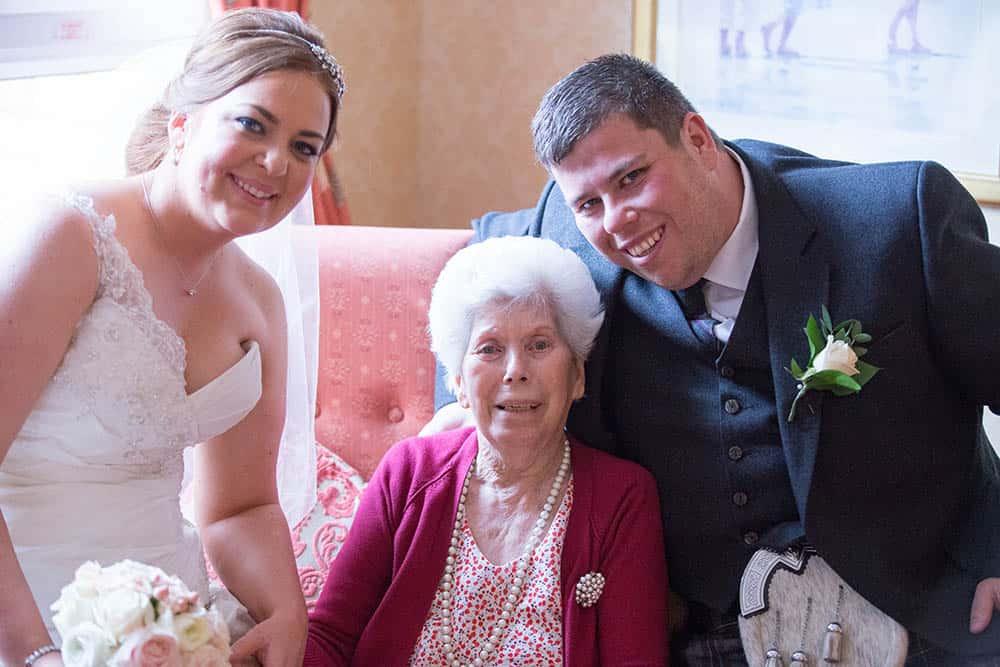 31 newlywed with groom grandmother
