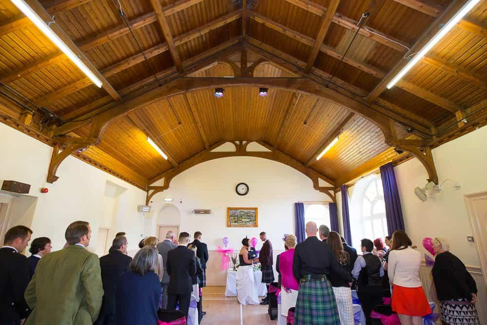 13 carrbridge village hall wedding ceremony