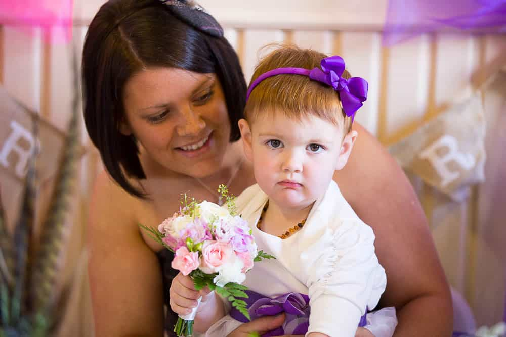18 bride with flower girl