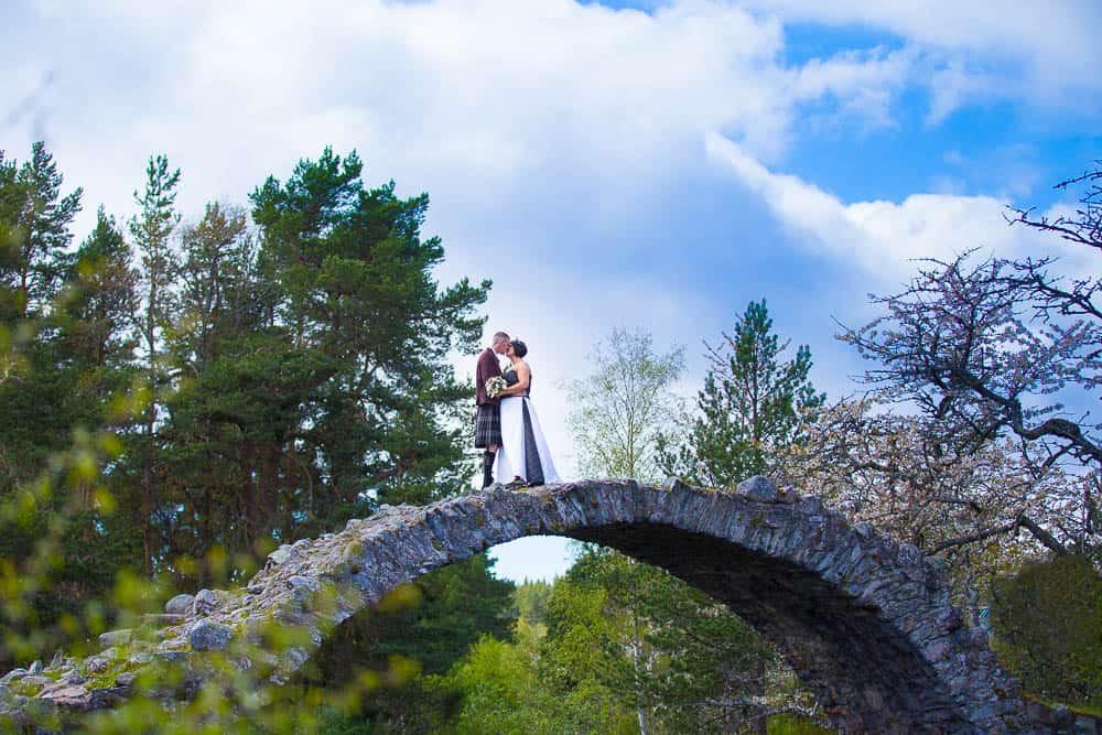 22 carrbridge bridge wedding white tree photography