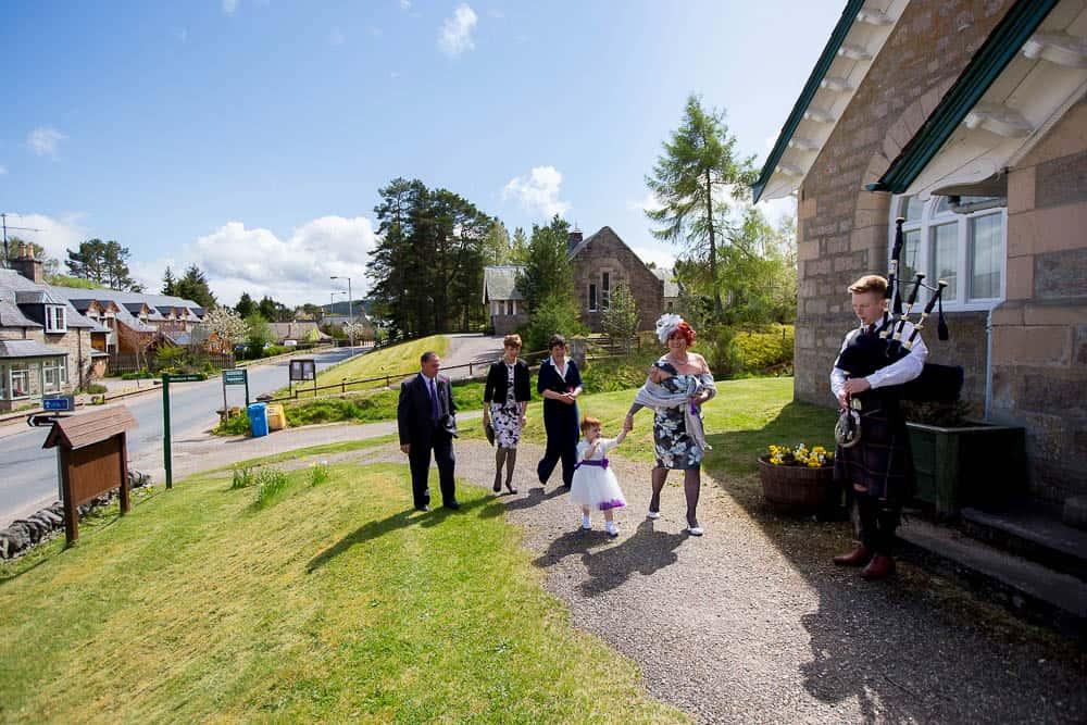4 guests arrival at carrbridge village hall