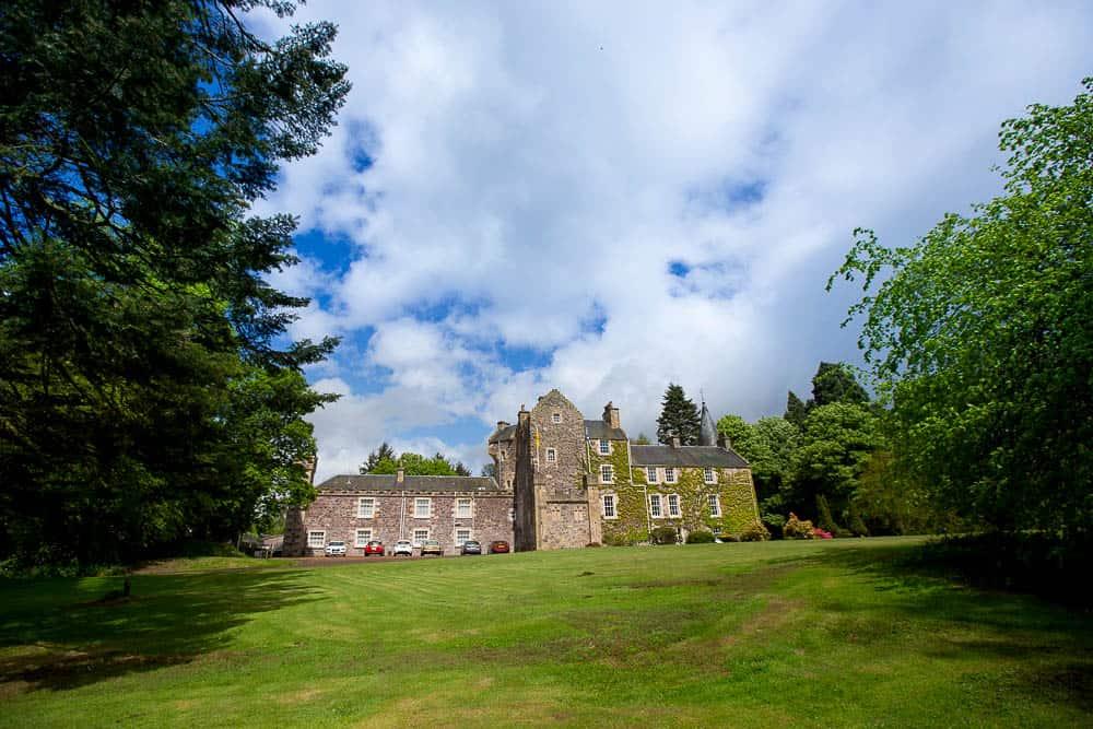 Fernie Castle wedding Fife St Andrews Letham building