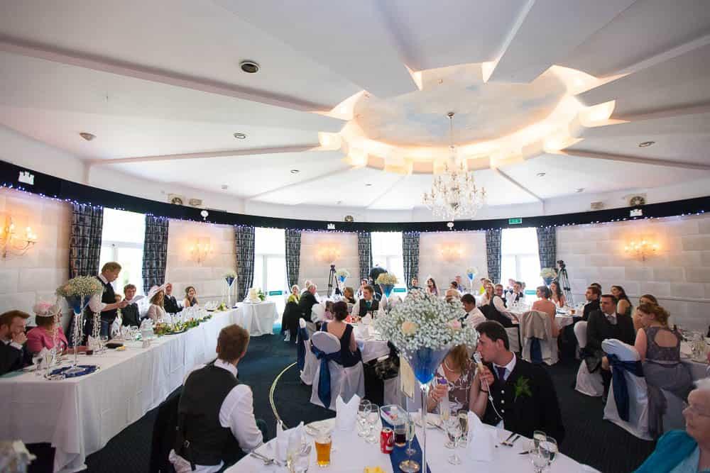 Fernie Castle wedding father speech reception