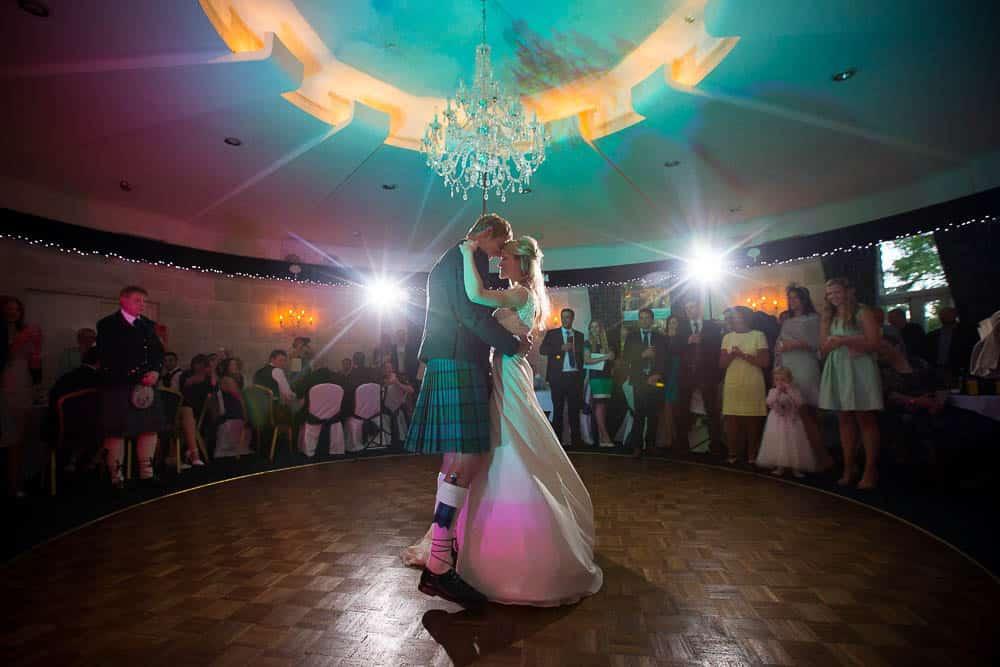 Fernie Castle wedding first dance of bride and groom dancefloor