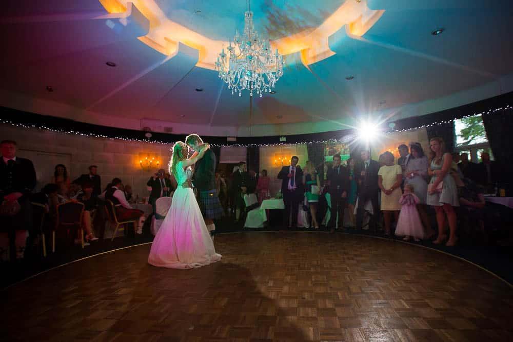 Fernie Castle wedding first dance wedding photography