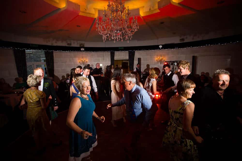 Fernie Castle wedding guests dance