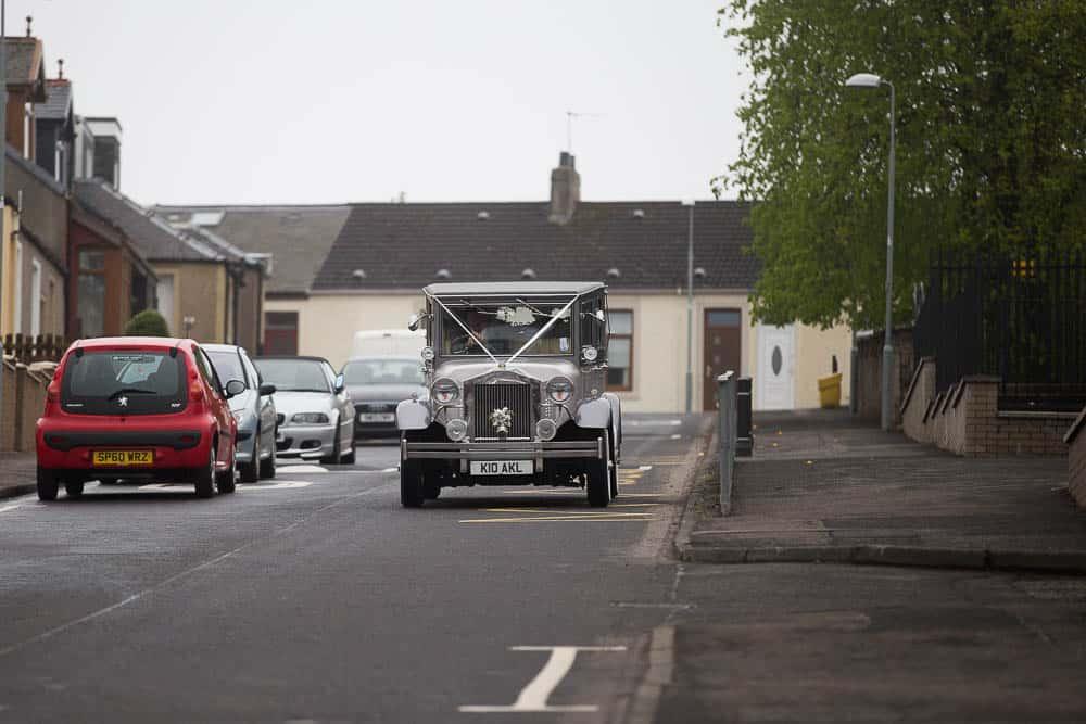 12 classic wedding car at Armadale wedding