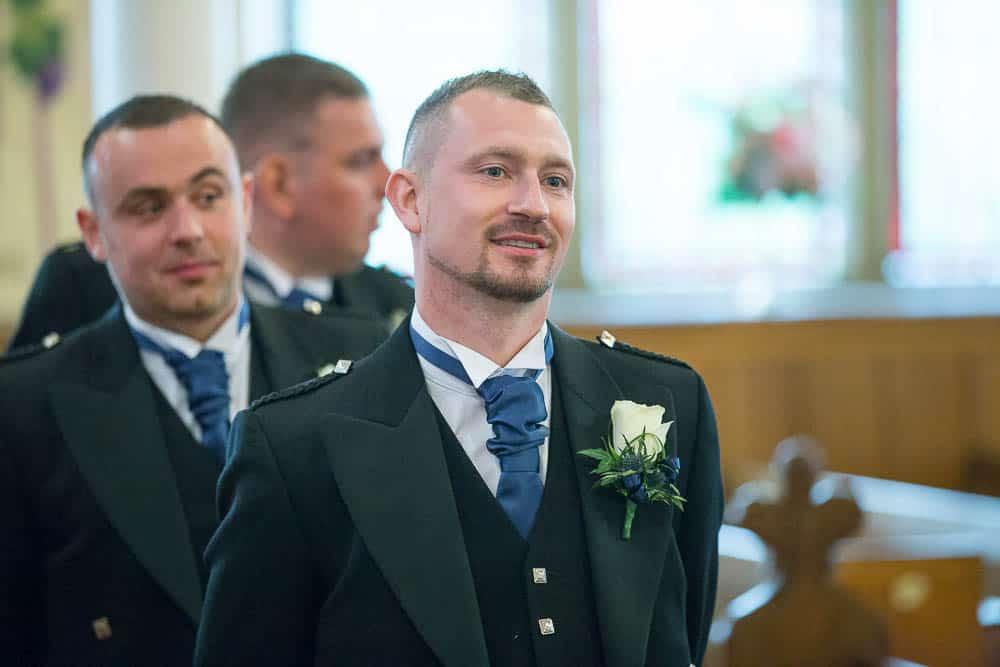 15 groom waiting for the bride Armadale parish church