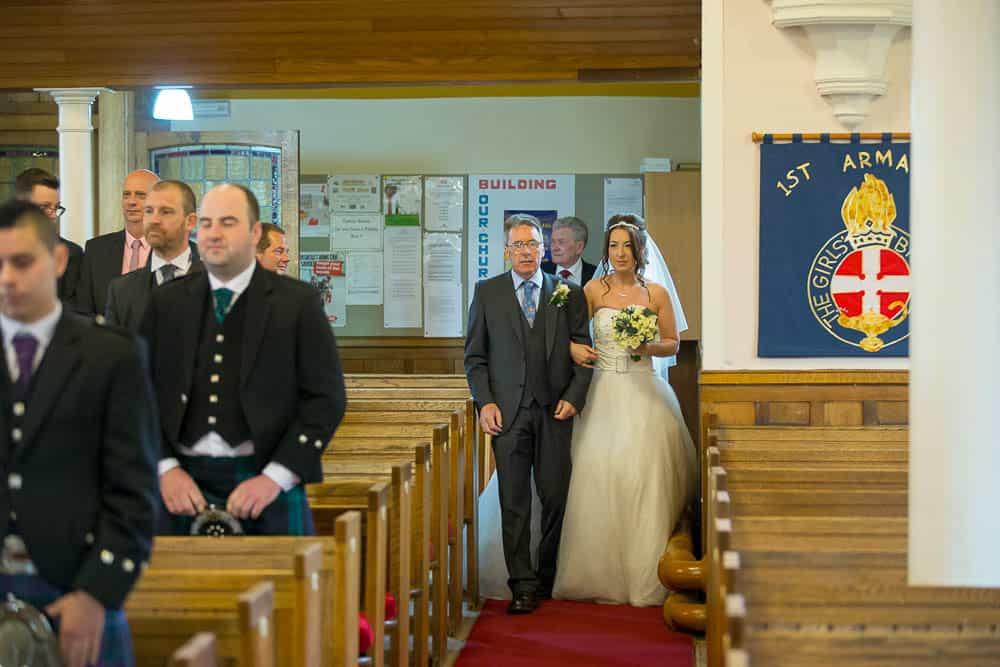 16 bride arrival at Armadale parish church