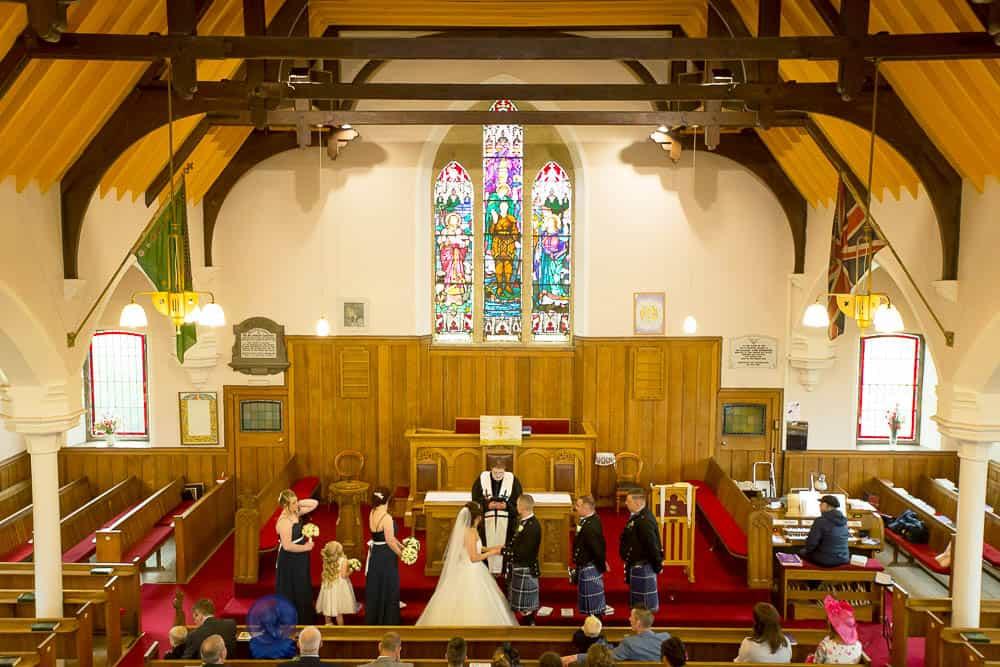 18 wedding ceremony at Armadale parish church