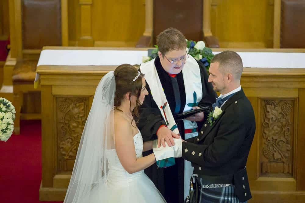 19 bride and groom at Armadale parish church