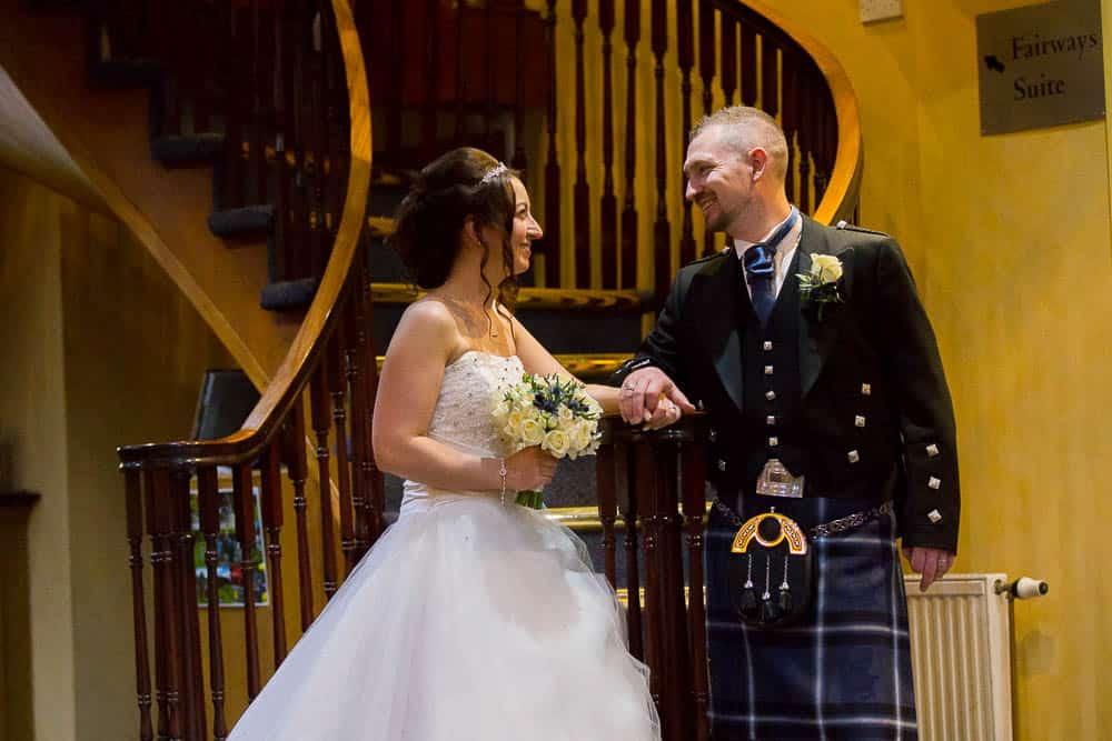 24 bride and groom at Deer Park Golf Country Club
