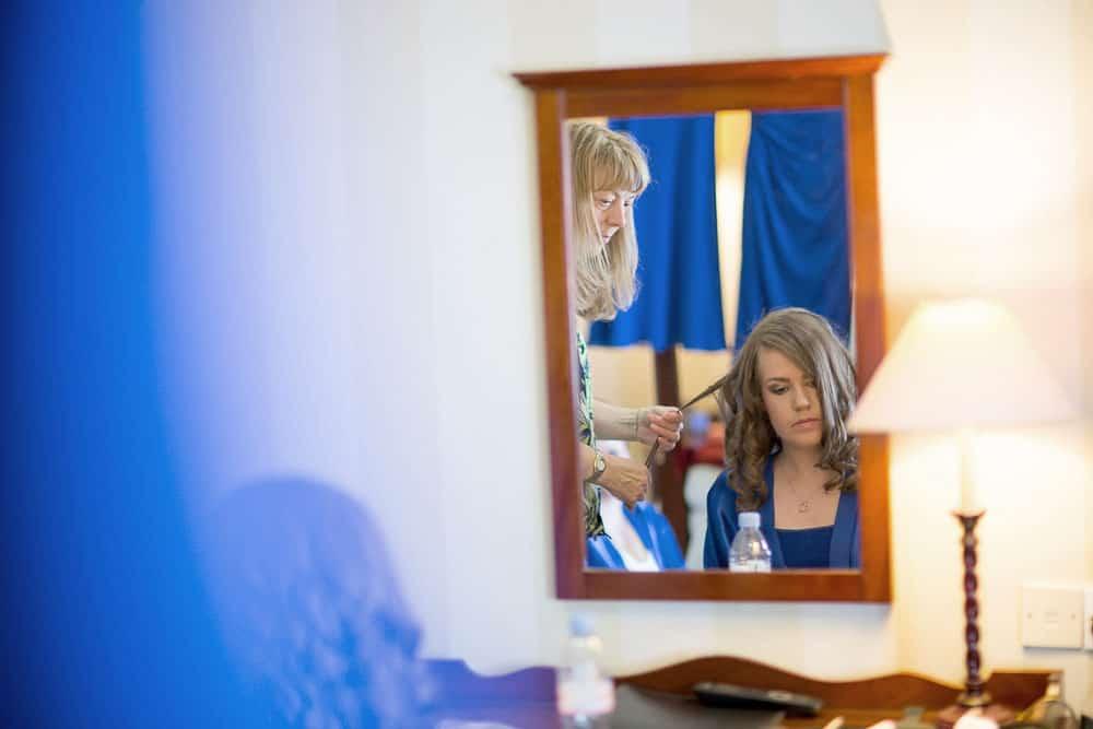 keavil house hotel wedding bride getting ready