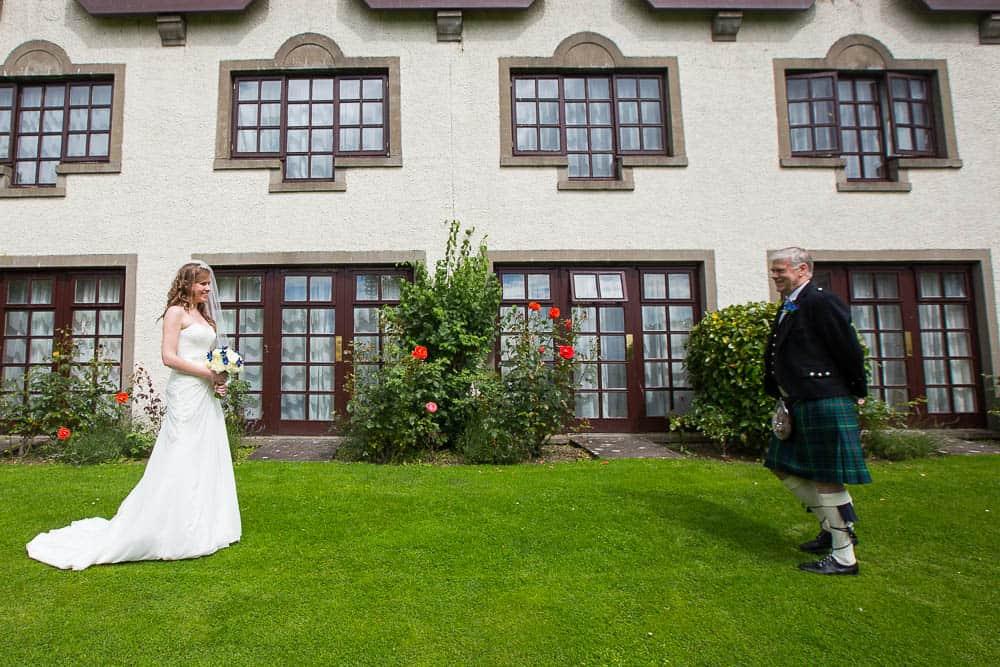 keavil house hotel wedding father seeing bride
