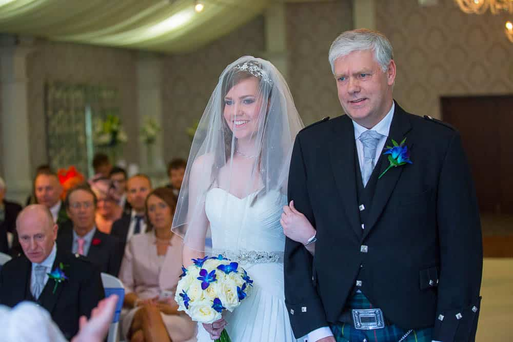 keavil house hotel wedding bride with her proud father