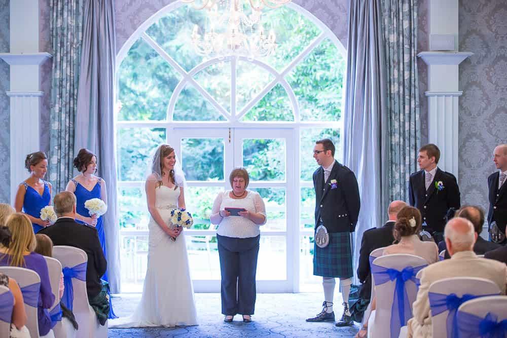 keavil house hotel wedding ceremony bay window