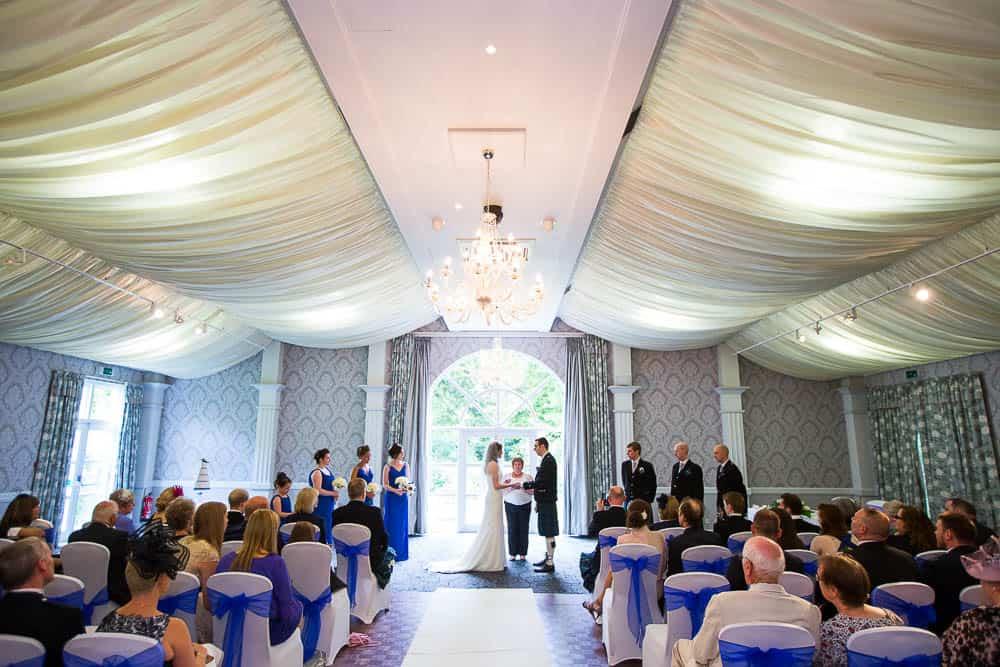 keavil house hotel wedding ceremony in suite
