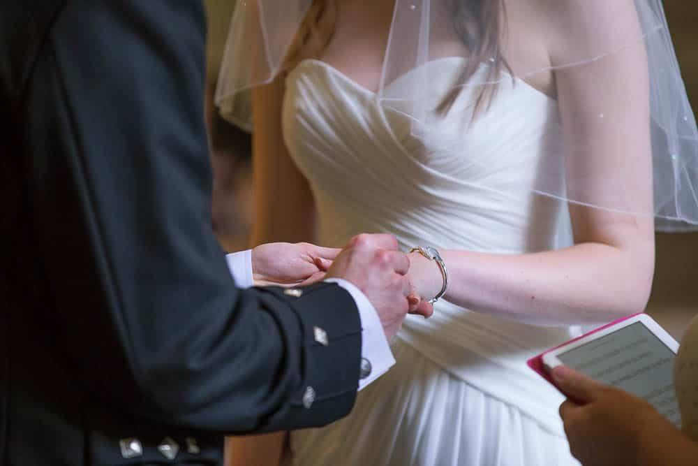 keavil house hotel wedding exchanging wedidng rings