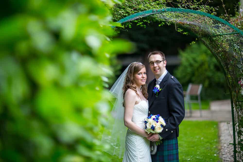 keavil house hotel wedding romantic photograph of bride and groom