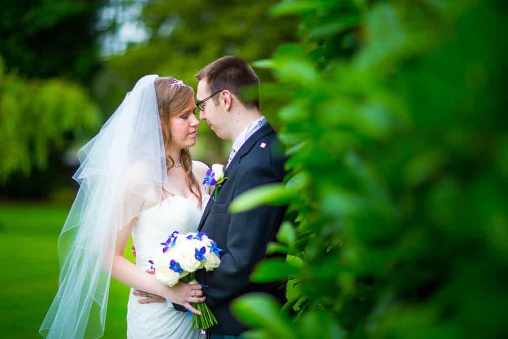 keavil house hotel wedding bride and groom photo green background