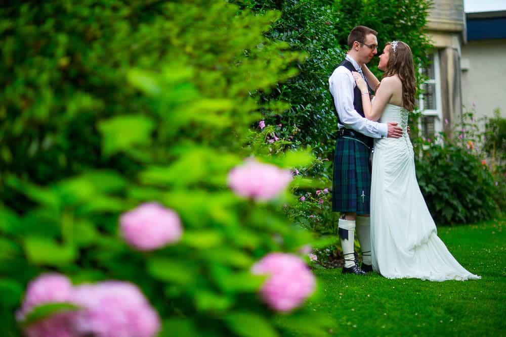 keavil house hotel wedding bride and groom full length photography