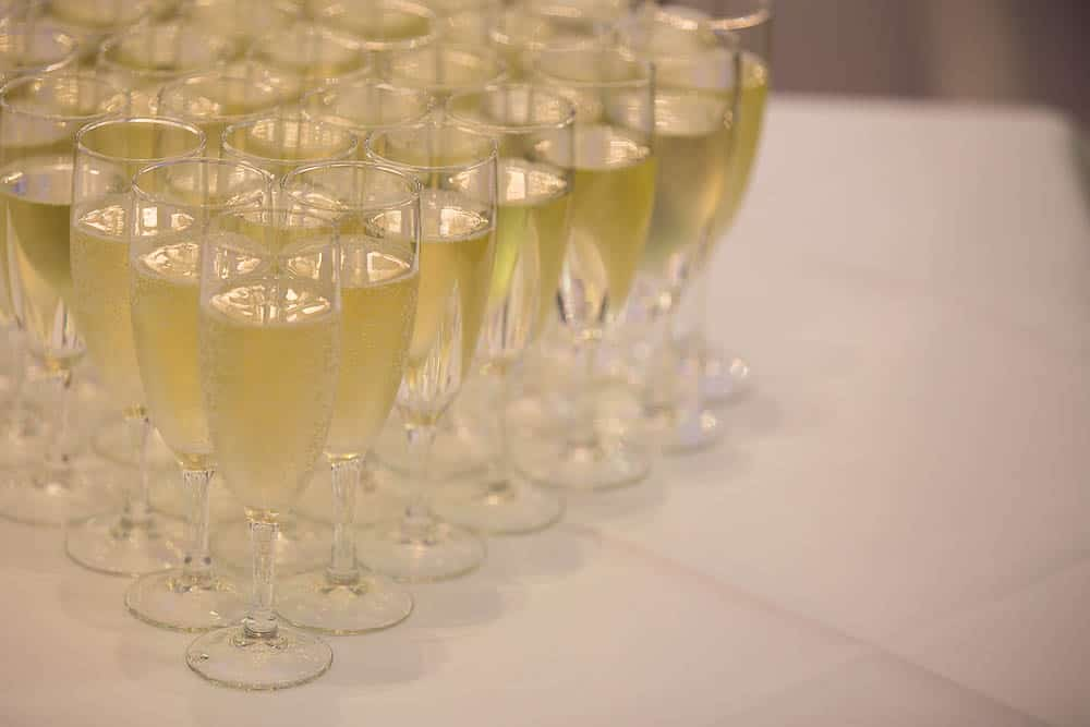 keavil house hotel wedding glases with champagne