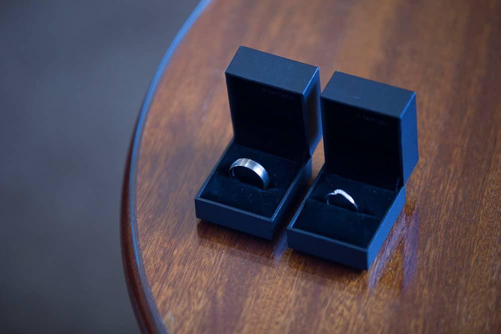 keavil house hotel wedding wedding rings in boxes bride and groom