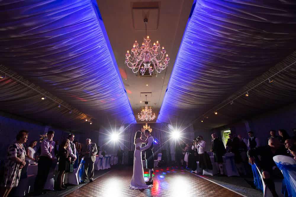 keavil house hotel wedding first dance of wedding couple