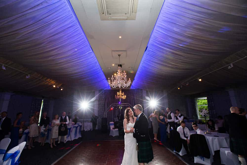 keavil house hotel wedding bride with father dance