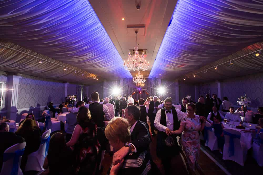 keavil house hotel wedding evening party reception guests are dancing ceilidh