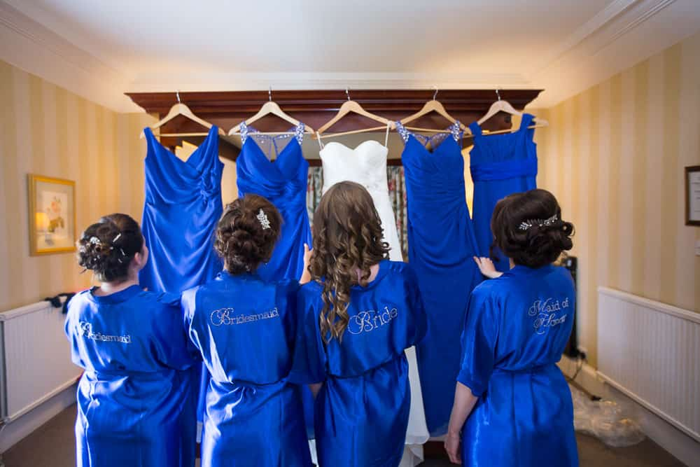 keavil house hotel wedding bride with bridesmaids haristyle photograph