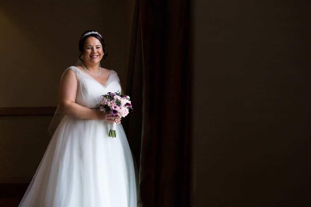wedding photography westerwood hotel glasgow - happy bride