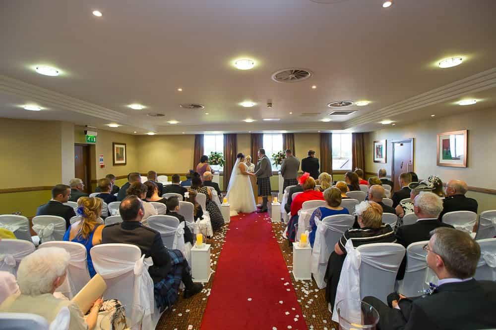 wedding photographer westerwood hotel - ceremony