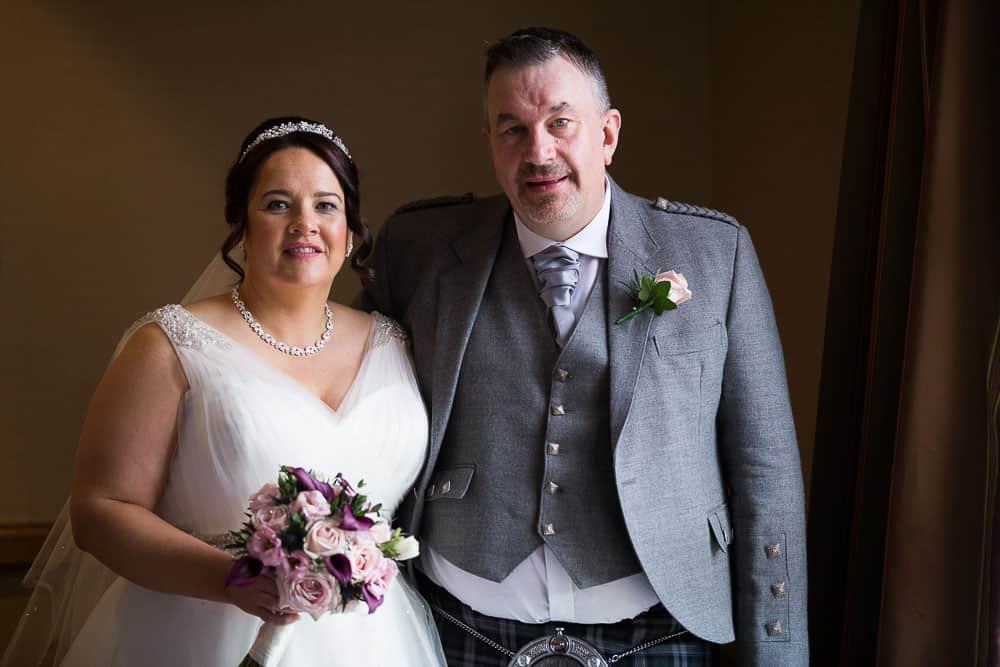 wedding photography westerwood hotel - bride and groom