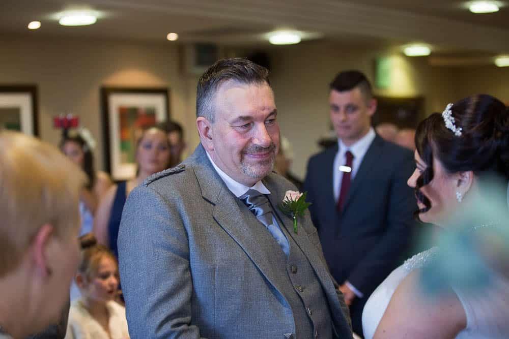 westerwood hotel wedding photography - groom wedding ceremony