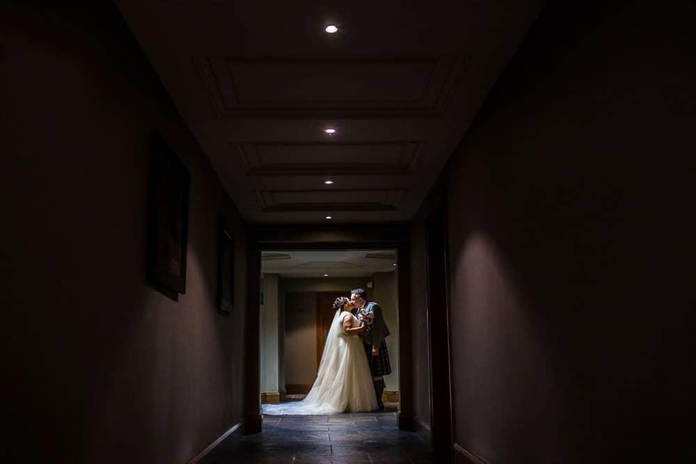 wedding photographer westerwood hotel glasgow - bride and groom